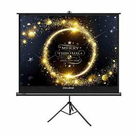 Tripod Projector Screen,8 Ft x 6 Ft
